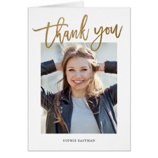 Modern Calligraphy photo thank you note