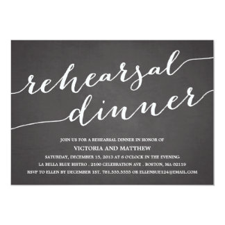 "MODERN CALLIGRAPHY | REHEARSAL DINNER INVITATION 5"" X 7"" INVITATION CARD"