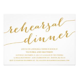 MODERN CALLIGRAPHY REHEARSAL DINNER INVITATION