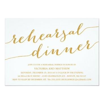 FINEandDANDY MODERN CALLIGRAPHY | REHEARSAL DINNER INVITATION