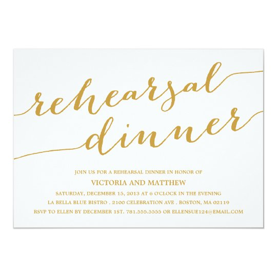 Modern Calligraphy | Rehearsal Dinner Invitation | Zazzle