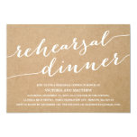 "MODERN CALLIGRAPHY | REHEARSAL DINNER INVITATION 5"" X 7"" INVITATION CARD"