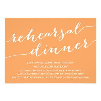 MODERN CALLIGRAPHY | REHEARSAL DINNER INVITATION