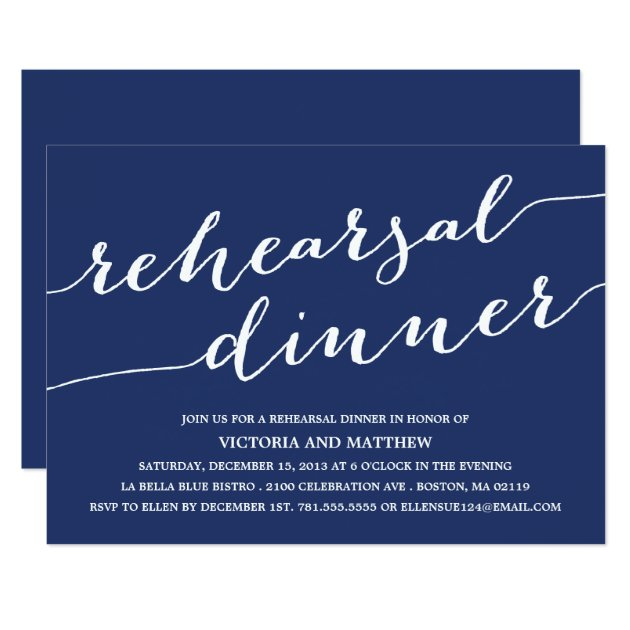 Rehearsal Dinner Invitations & Announcements | Zazzle