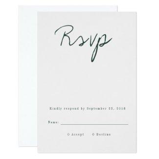 Modern Calligraphy RSVP Card