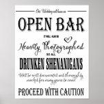 "Modern Calligraphy wedding Open Bar print<br><div class=""desc"">Modern Calligraphy wedding Open Bar print</div>"