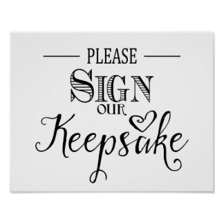 Modern Calligraphy Wedding sign keepsake print