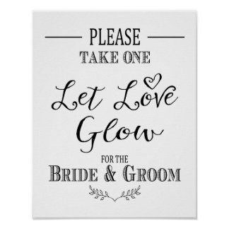 Modern Calligraphy Wedding sign Sparkler print