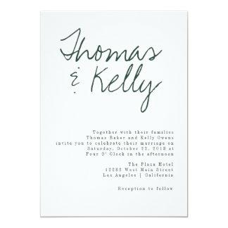 Modern Calligraphy Wedding Suite Card