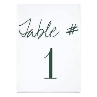 Modern Calligraphy Wedding Table Numbers
