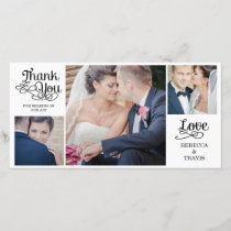 Modern Calligraphy Wedding Thank You Cards Black