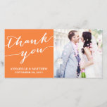 """MODERN CALLIGRAPHY   WEDDING THANK YOU PHOTO CARD<br><div class=""""desc"""">OTHER COLORS AVAILABLE IN OUR SHOP!</div>"""