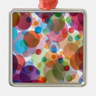 Modern Calm But Bold Pink Polka Dots Metal Ornament