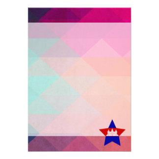 "Modern Cambodia Flag 5"" X 7"" Invitation Card"