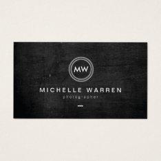 Modern Camera Lens Initials Logo Ii Photographer Business Card at Zazzle