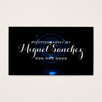 Modern Camera Lens Photographer Photography Business Card