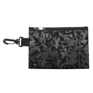 Modern Camo -Black and Dark Grey- camouflage Accessory Bag