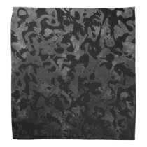 Modern Camo -Black and Dark Grey- camouflage Bandana