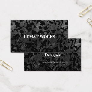 Camouflage business cards templates zazzle modern camo black and dark grey camouflage business card colourmoves