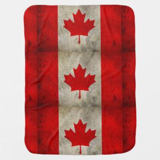 Modern Canadian Flag Baby Blanket