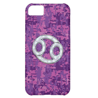 Modern Cancer Zodiac Sign Pink Digital Camouflage iPhone 5C Cover