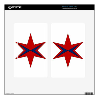 Modern Captain Chicago Logo Decals For Kindle Fire