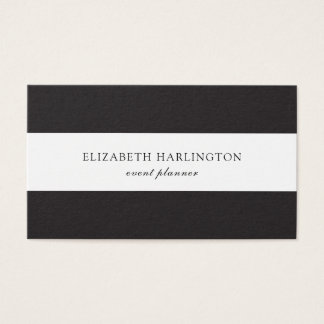 Modern card. Black and white stripes. Abstract Business Card
