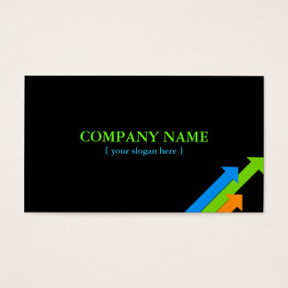 Modern Card with Productivity Arrows Pointing up