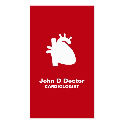 Modern cardiologist cardiology heart business card