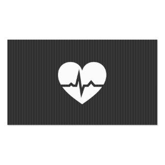 Modern cardiologist cardiology heart gray texture business cards