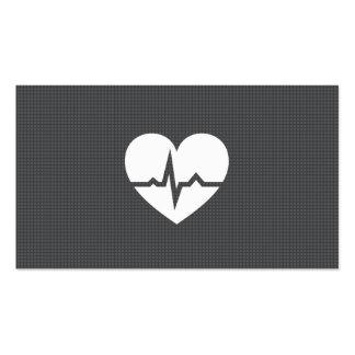 Modern cardiologist cardiology heart gray texture business card