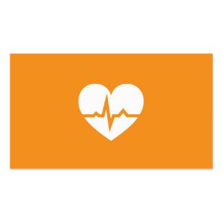 Modern cardiologist cardiology heart minimalist business card