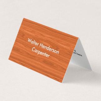 Modern Carpenter Contractor Business Card