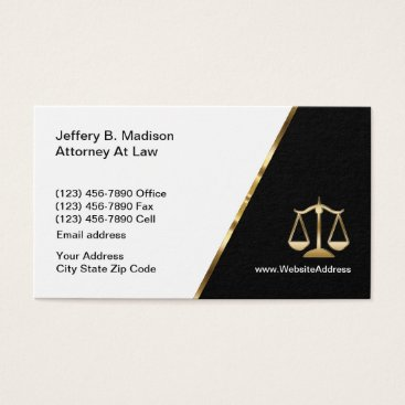 Lawyer Themed Modern Cassy Law Office Business Card