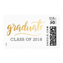 Modern Casual Gold Graduate Typography Postage