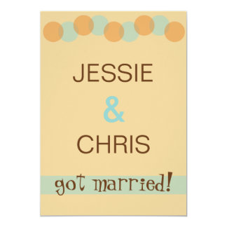 Modern Casual Marriage Announcement Invitation