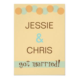 Modern Casual Marriage Announcement Invitation