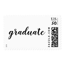 Modern Casual Simple Graduate Typography Postage