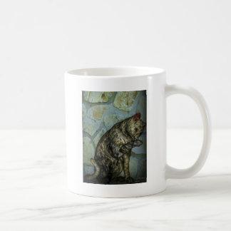 modern cat digital art mug
