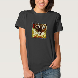 Modern cat face orange, cream, brown tabby shirt