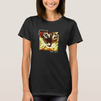 Modern cat face orange, cream, brown tabby T-Shirt