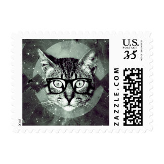 Modern Cat Postage Stamps