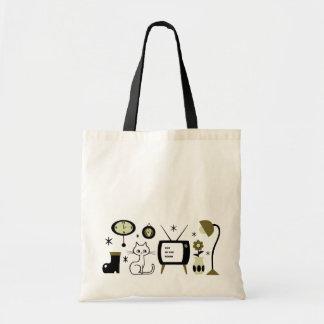 Modern cat tote bag