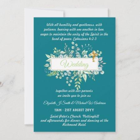 Modern Catholic Wedding Invites with Verse Budget