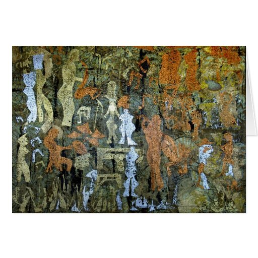 Modern Cave Painting Greeting Card
