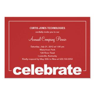 """Modern Celebration Corporate/Business Party Invita 5"""" X 7"""" Invitation Card"""