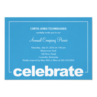 "Modern Celebration Corporate/Business Party Invite 5"" X 7"" Invitation Card"