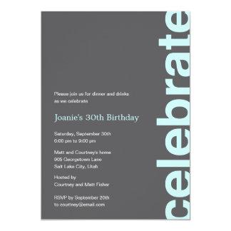 Modern Celebration Party Invitation - Turquoise