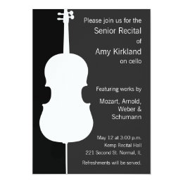 Modern Cello Recital Card