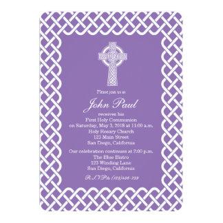 Modern Celtic Cross Communion Invitation for Girls